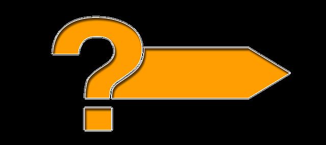 Fragezeichen und Pfeil