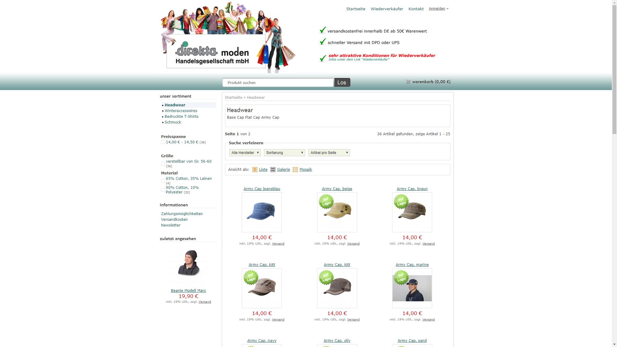 screenshot webseite www.dimoshop24.de
